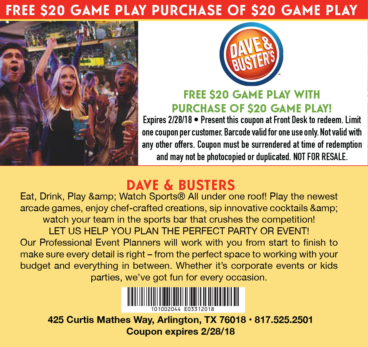 Dave n busters