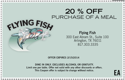 Flying Fish Coupon