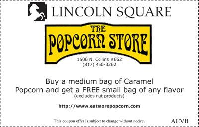 Free Small Bag of Popcorn