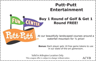 Buy 1 Round of Golf and Get 1 Round Free!